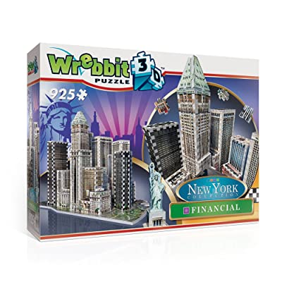 Wrebbit Puzz-3D New York City Collection, Financial District, N.Y.C. 3D Jigsaw Puzzle (925 Pieces): Toys & Games