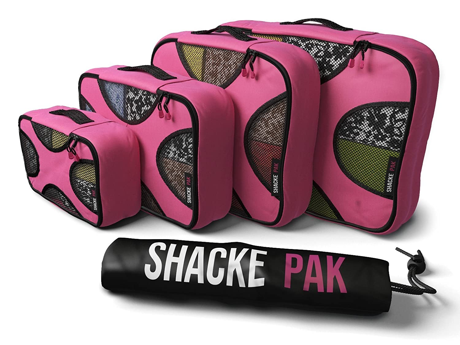 Shacke Pak - 4 Set Packing Cubes - Travel Organizers with Laundry Bag 4sp-00001
