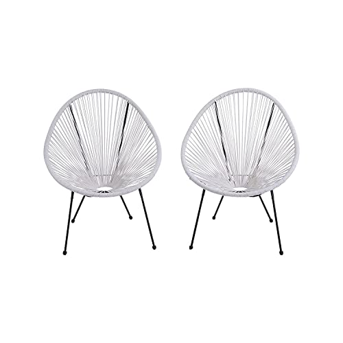 Acapulco Patio Chair Outdoor Gift Idea CM-0104 White