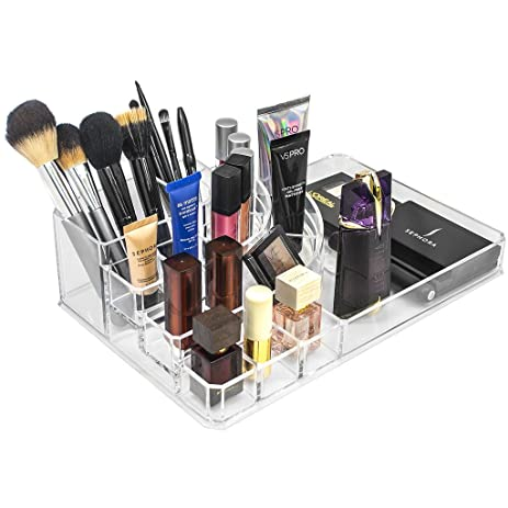Sorbus Acrylic Cosmetics Makeup And Jewelry Storage Case X Large Display  Sets U2013Interlocking Scoop
