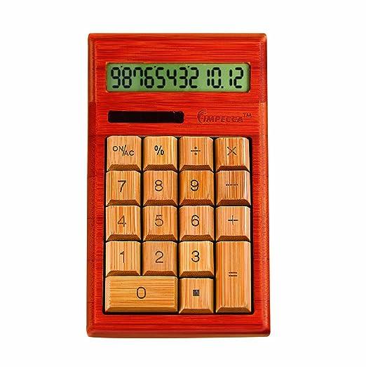 Calculadora estándar de bambú