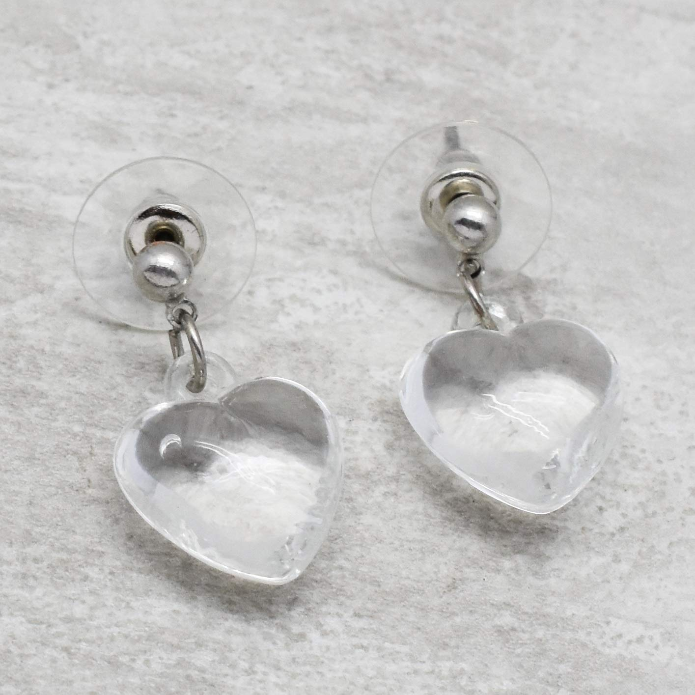 The V Collection earrings silver plated heart shape crystal fashion jewelry stud earrings gifts for her