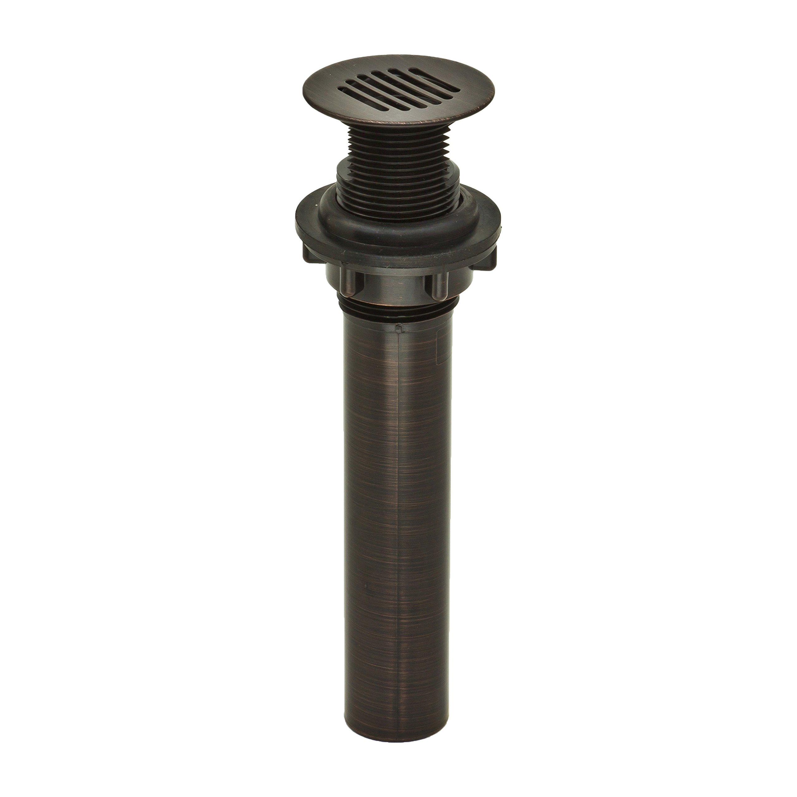PF WaterWorks DecoDRAIN Grid Strainer Drain for Bathroom Vanity/Lavatory/Vessel/Sink, Plated ABS Body No Overflow; Oil Rubbed Bronze; PF0727-ORB