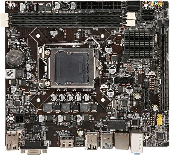 Desktop-Computer Hauptplatine 4 Speichersteckpl/ätze LGA 1366 DDR3 USB2.0 SATA2.0 RAM-Speicher des Mainboards SATA2.0 Mainboard Yencoly Hauptplatine