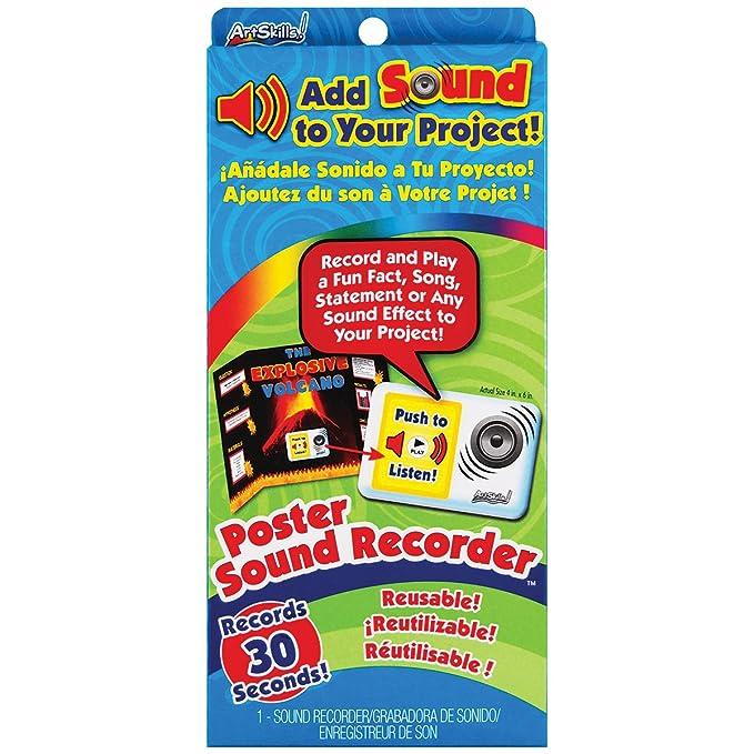 Amazon.com: ArtSkills Poster Sound Recorder, 1 30 Second Recorder (PA-1482): Arts, Crafts & Sewing