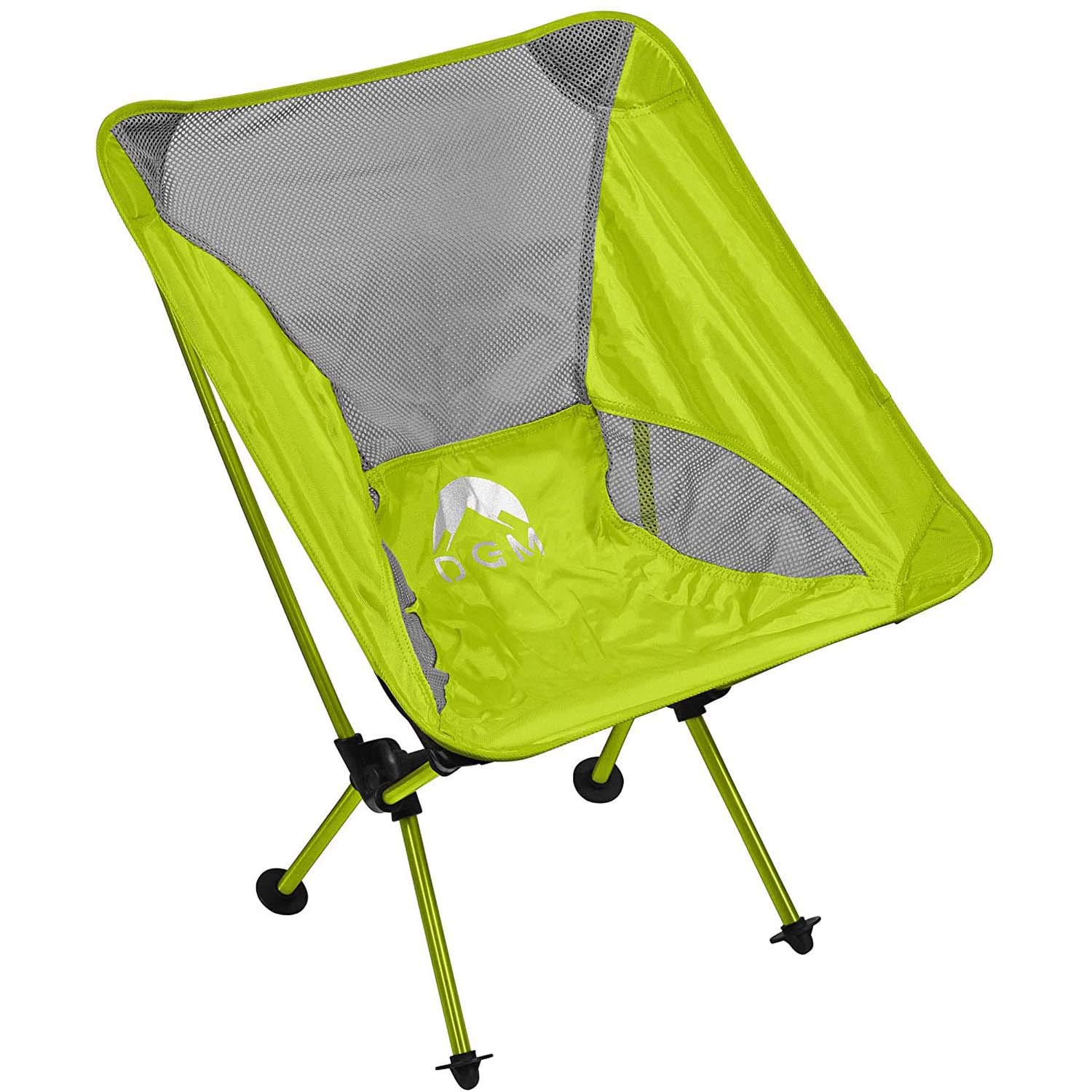 DGM Lifestyles Portable and Heavy Duty Folding Camping Chair Mesh Fabric Comfortable Deep Seat and Sturdy Metal Frame Adjustable Carry Strap and Durable Lightweight in Travel Case