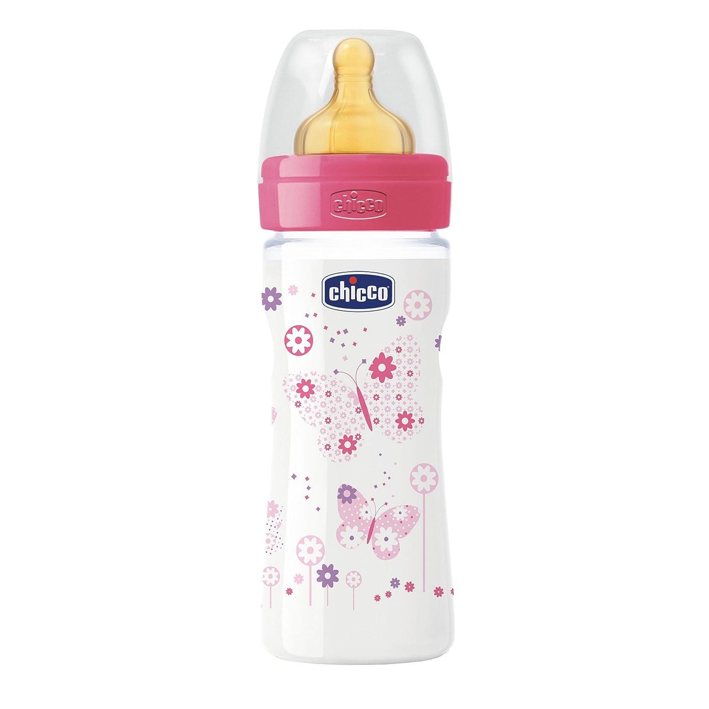 Flusso Medio Blu Caucci/ù Chicco 00020622200000 Benessere Plastica Bambino Biberon 250 ml