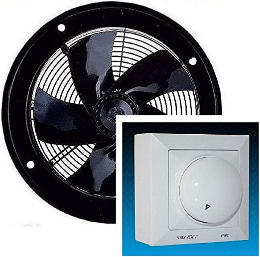 Uzman-Versand Pared ventilador 250mm, con 300 Watt Regulador de ...