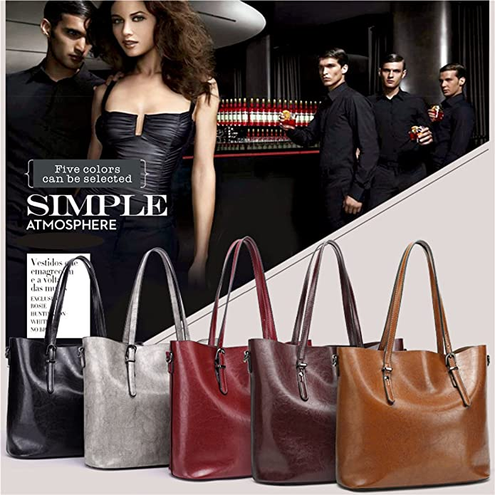 Women Top Handle Satchel Handbags Shoulder Bag Messenger Tote Bag Purse MaiDiNi (Black): Handbags: Amazon.com