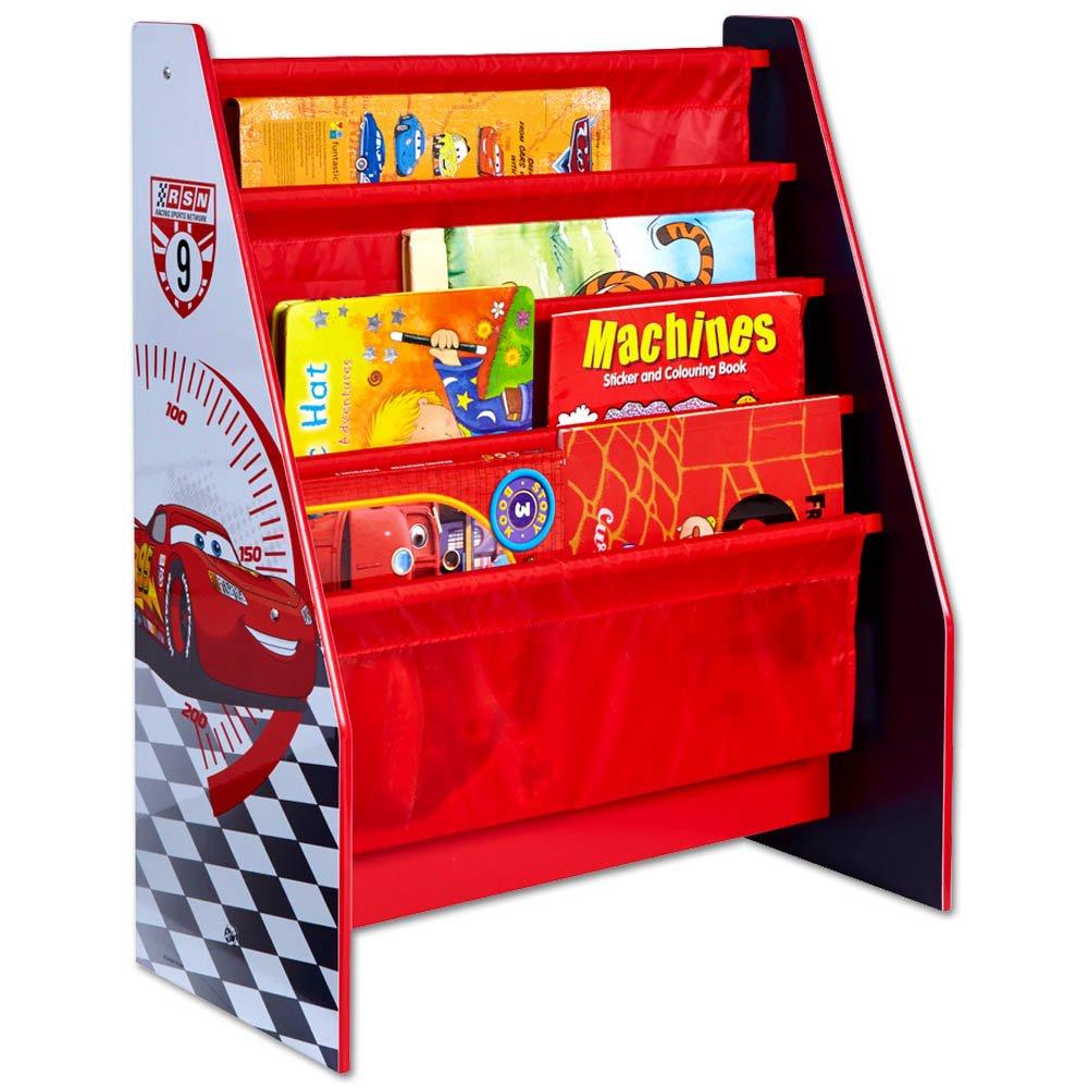 TW24 Disney Bücher Regal - Aufbewahrungsregal - Kinder Regal - Buch Organizer mit Motivauswahl (Cars)
