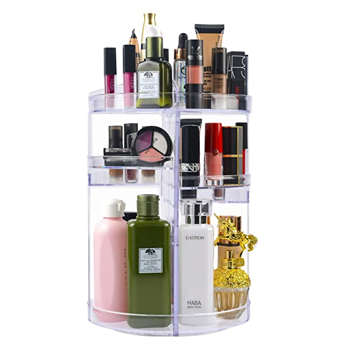 Amazon.com: Plaviya 360°Rotating Makeup Organizer Crystal ...
