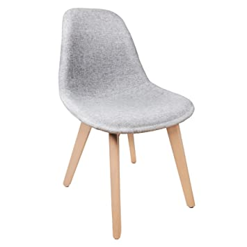 chaise scandinave tissu gris - Chaise Scandinave