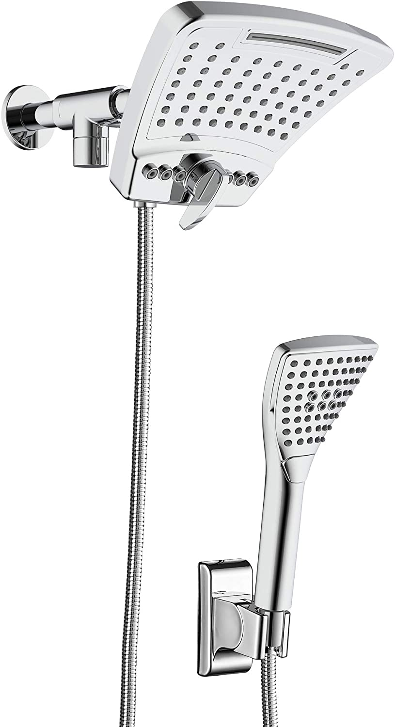 Pulse Showerspas 1056 Ch Powershot Shower System With Air Infused Curved 8 Multi Pattern Showerhead And 3 Function Hand Shower Polished Chrome Finish Amazon Com