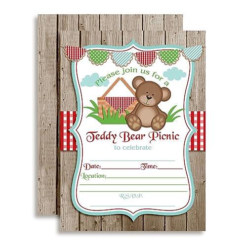bear invitations for birthday amazon com