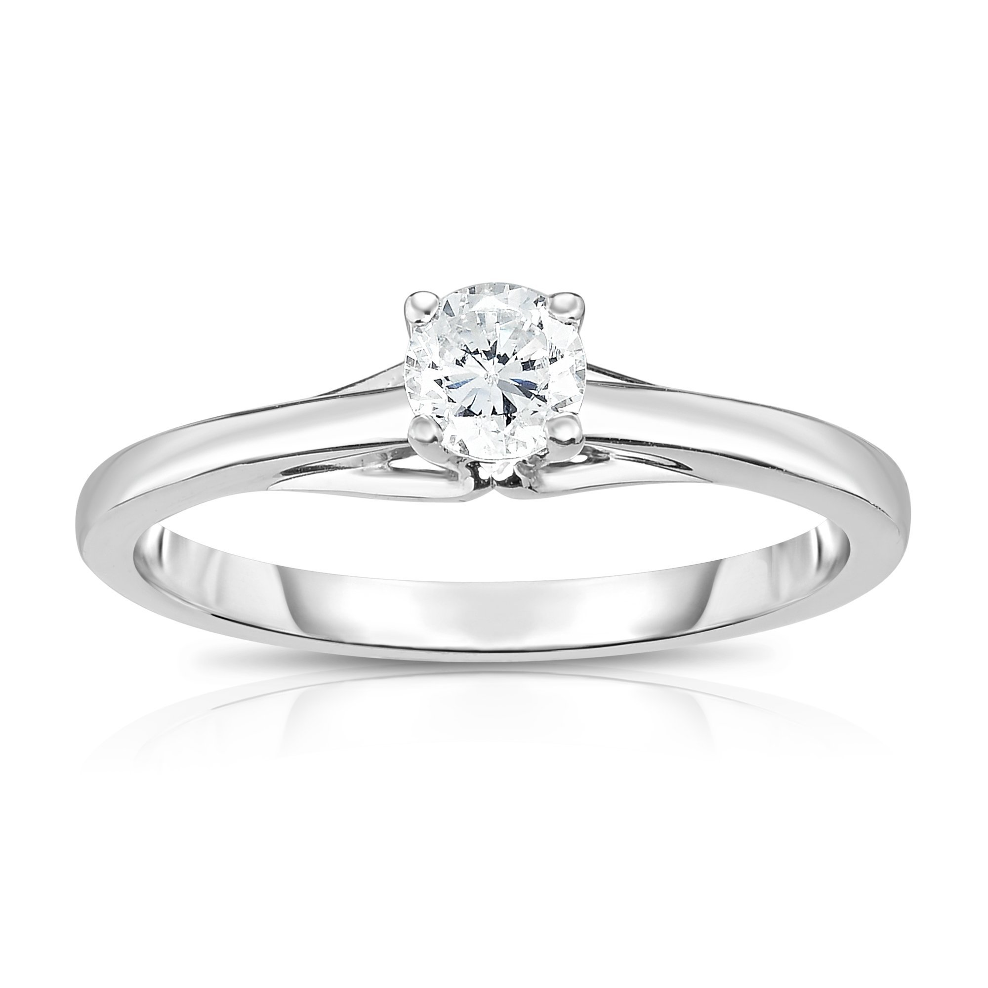 Noray Designs 14K White Gold Diamond (0.25 Ct, SI2-I1 Clarity, G-H Color) Solitaire Ring