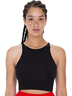 ac51eacadb98f Amazon.com  American Apparel Women Cotton Spandex Halter Bodysuit ...