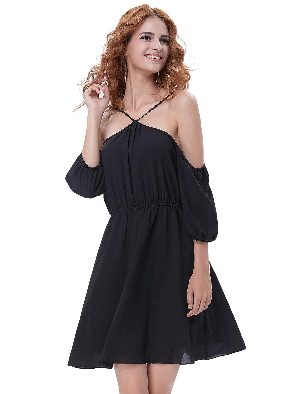 Kate Kasin 50s Festliches Kleid Petticoat Kleider aus der Schulter Partyurlaub Sommer Swing Kleider