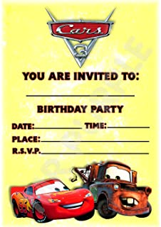 Disney Cars 3 Birthday Party Invites