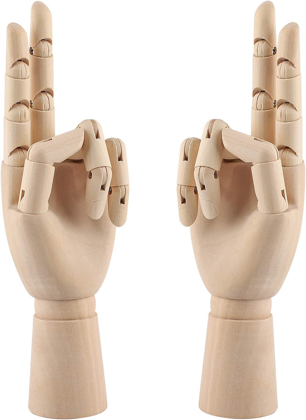 10 Inch Wooden Hand Model Flexible Moveable Fingers Manikin Hand Figure Left/Right Hand Model for Drawing, Sketching, Painting 71TCdEXBo6L