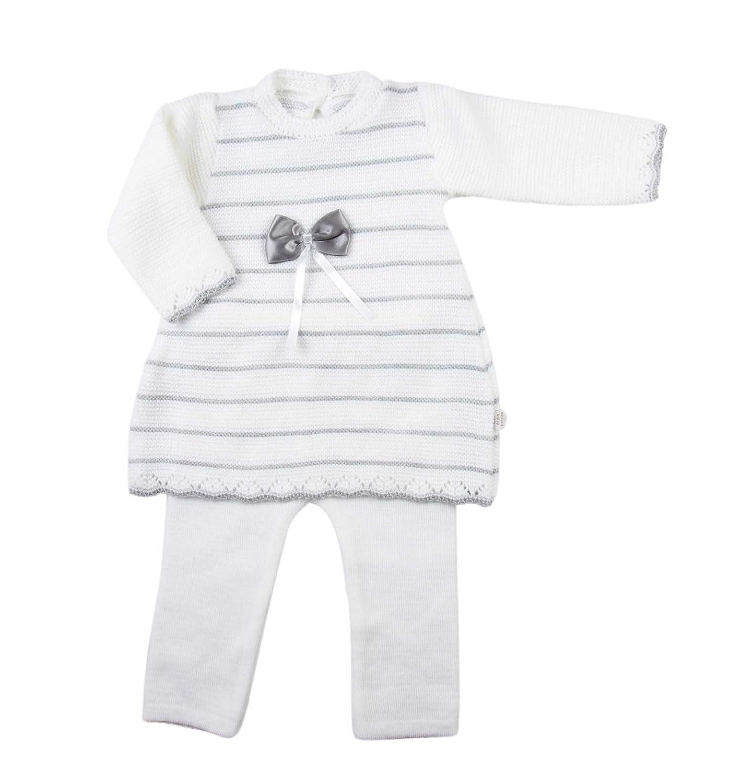 Ensemble deux pièces pull et pantalon tricot - bébé fille