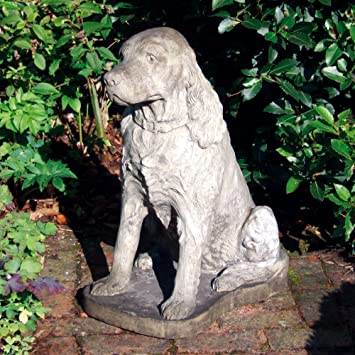 Large Garden Ornaments   Spaniel Dog Statue Sculpture