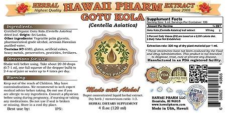 Gotu Kola Liquid Extract, Organic Gotu Kola Centella Asiatica Tincture Supplement 15×4 oz