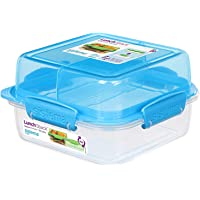 Sistema Lunch Stack Square To Go 1.24L - Blue