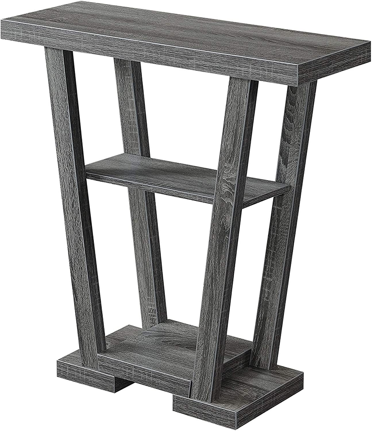 Convenience Concepts Newport V Console, Weathered Gray