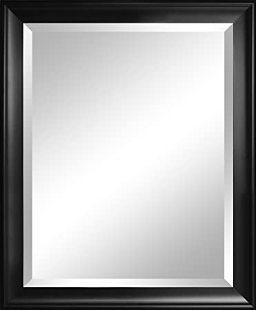 alpine mirror u0026 art beveled mirror contoured black
