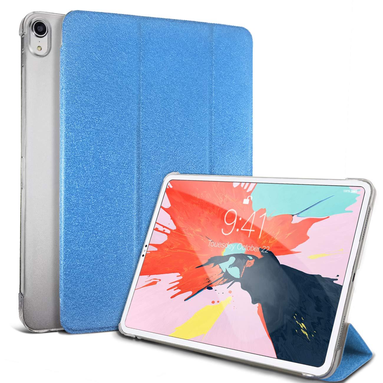 DUNNO iPad Pro 11インチケース 2018年 スリム軽量カバー 自動スリープ/ウェイクアップ&スタンドフォリオデザイン 半透明つや消しバックカバー Apple iPad Pro 11 2018インチ用 LW-PRO11-NAV  ネイビーブルー B07LFRP2TP