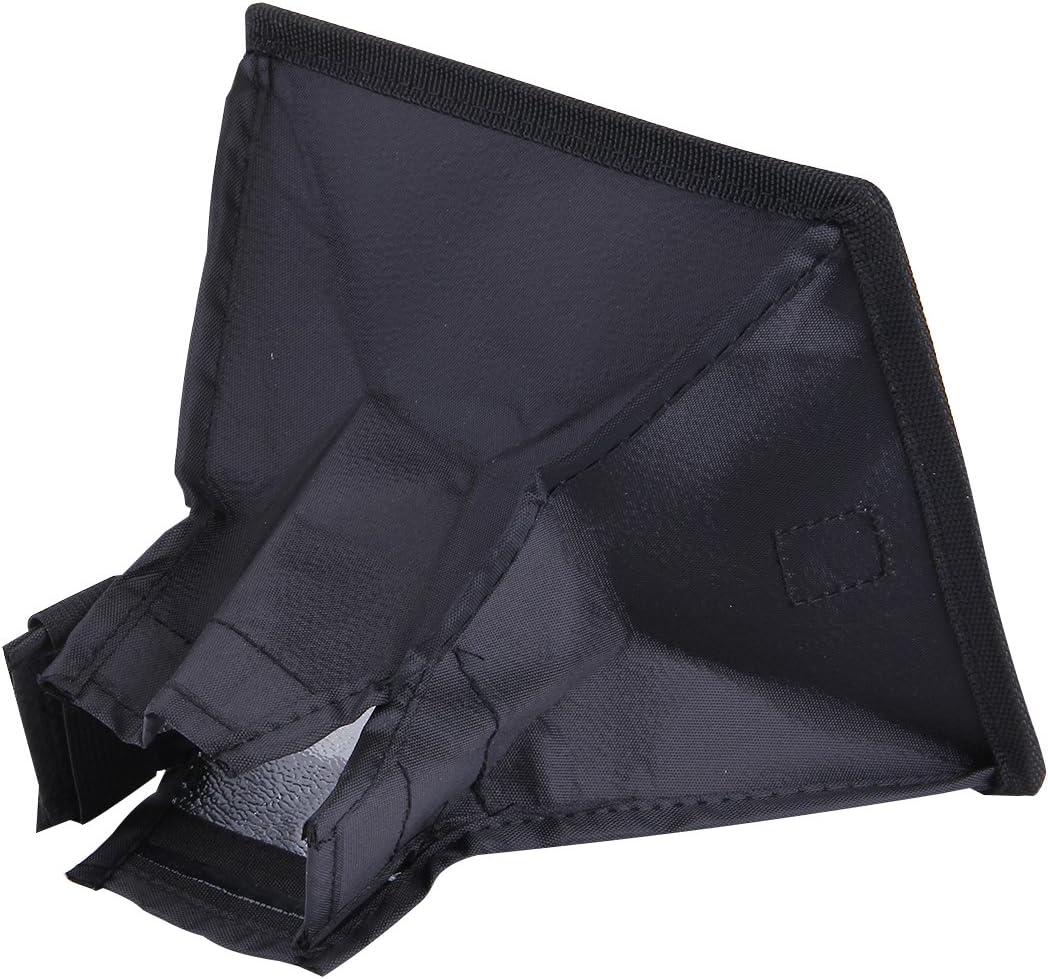 Durable Size: 15 x 17 cm CAOMING Portable Flash Folding Soft Box Without Flash Light Holder Black + White