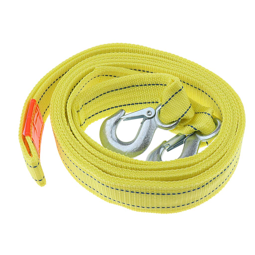 Almencla 5 Tons Tow Strap Heavy Duty with 2 Hooks,13 ft Break Strengthened Towing Rope for ATV Recovery Corrosion Resistance