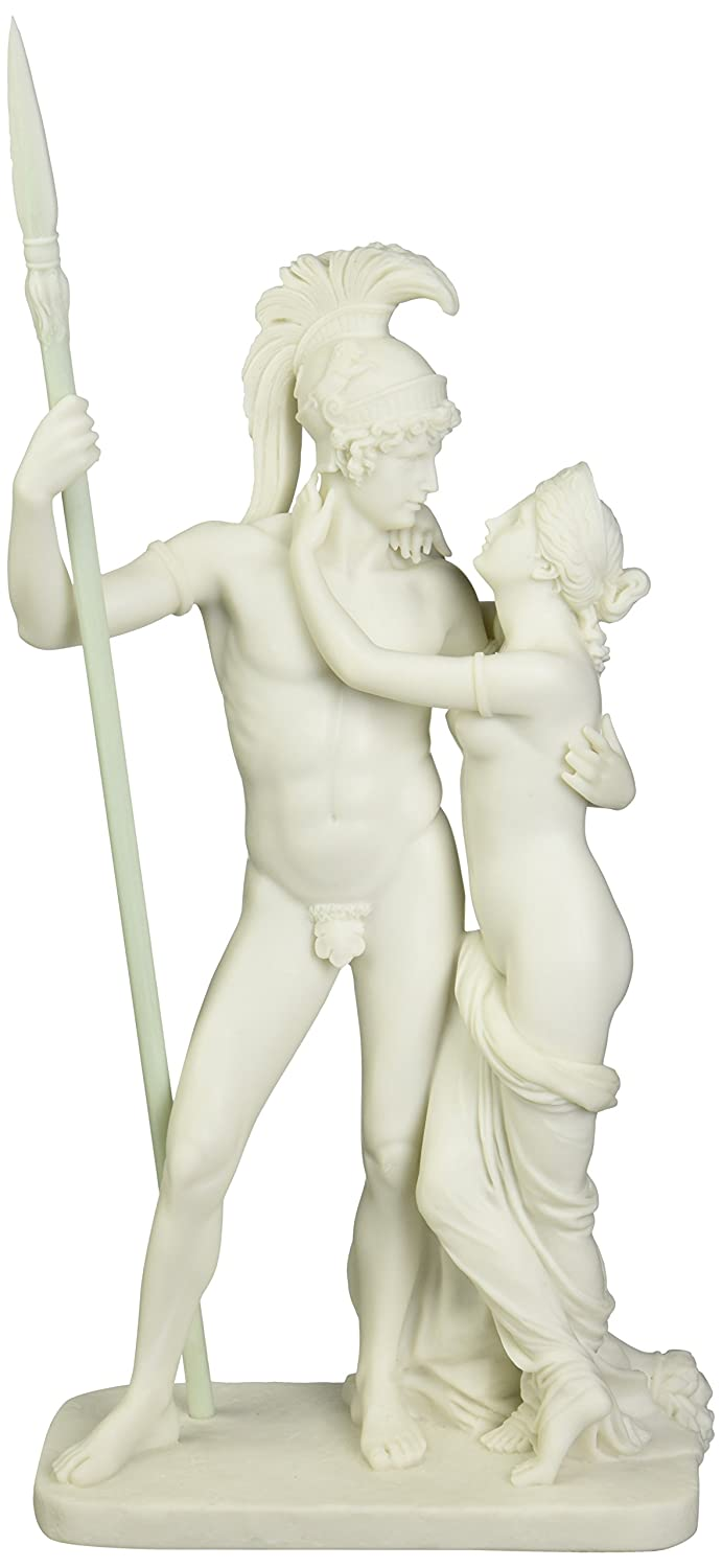Design Toscano WU973129 Ares and Aphrodite (Mars and Venus) Bonded Marble Statue - Set of 2