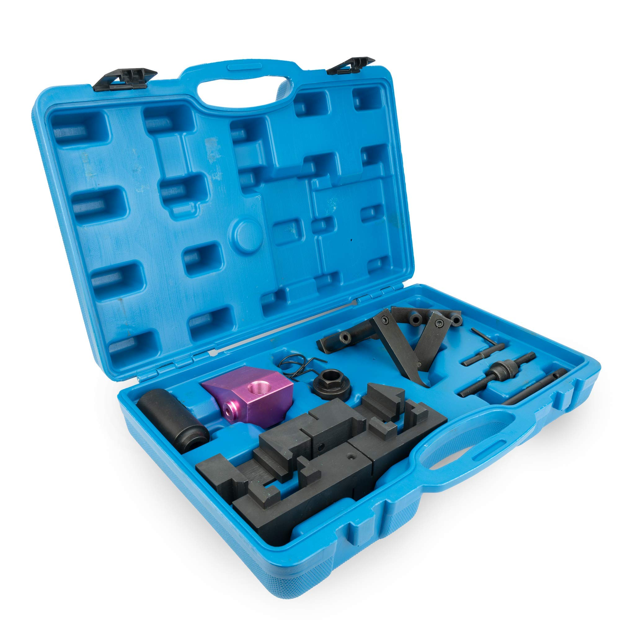 Variable Valve Timing Locking Tool Kit - Compatible With BMW M60, M62 Engines - VANOS Electromagnetic Valve Camshaft Alignment - Pin, Tensioner, Socket, Trestle, Fixture, Locking Tool & Springs by Delray Auto Parts (Image #4)
