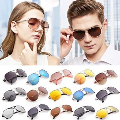 552129306d82 Image Unavailable. Image not available for. Color  1pcs Eyewear of Green  Polarized Unisex Fashion Mirrored Gold Frame UV Case Aviator Sunglasses