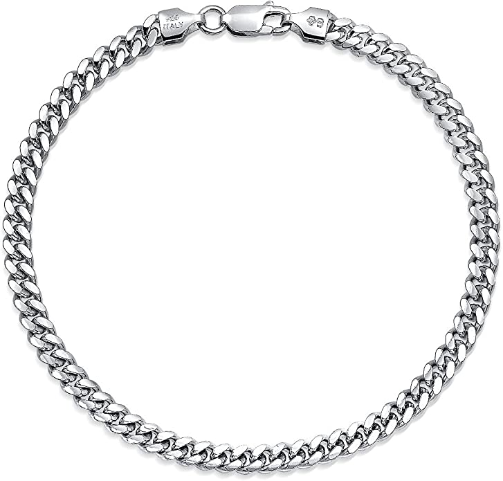 925 Solid Sterling Silver Miami Cuban 5mm Men Boyfriend Father Dad GiftFathers Day GiftBest Selling Sale Heavy Chain 28/'/'