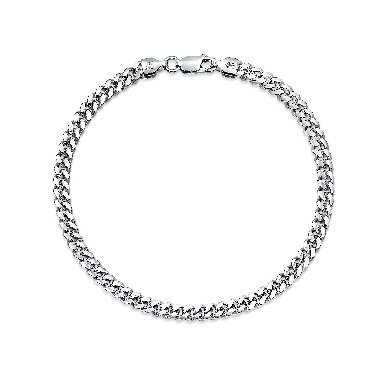 Amazon.com  Miami Cuban Curb Link Bracelet For Men 150 Gauge Solid Heavy  High Polish 925 Sterling Silver Made In Italy  Link Bracelets  Jewelry 6a5f6455085c