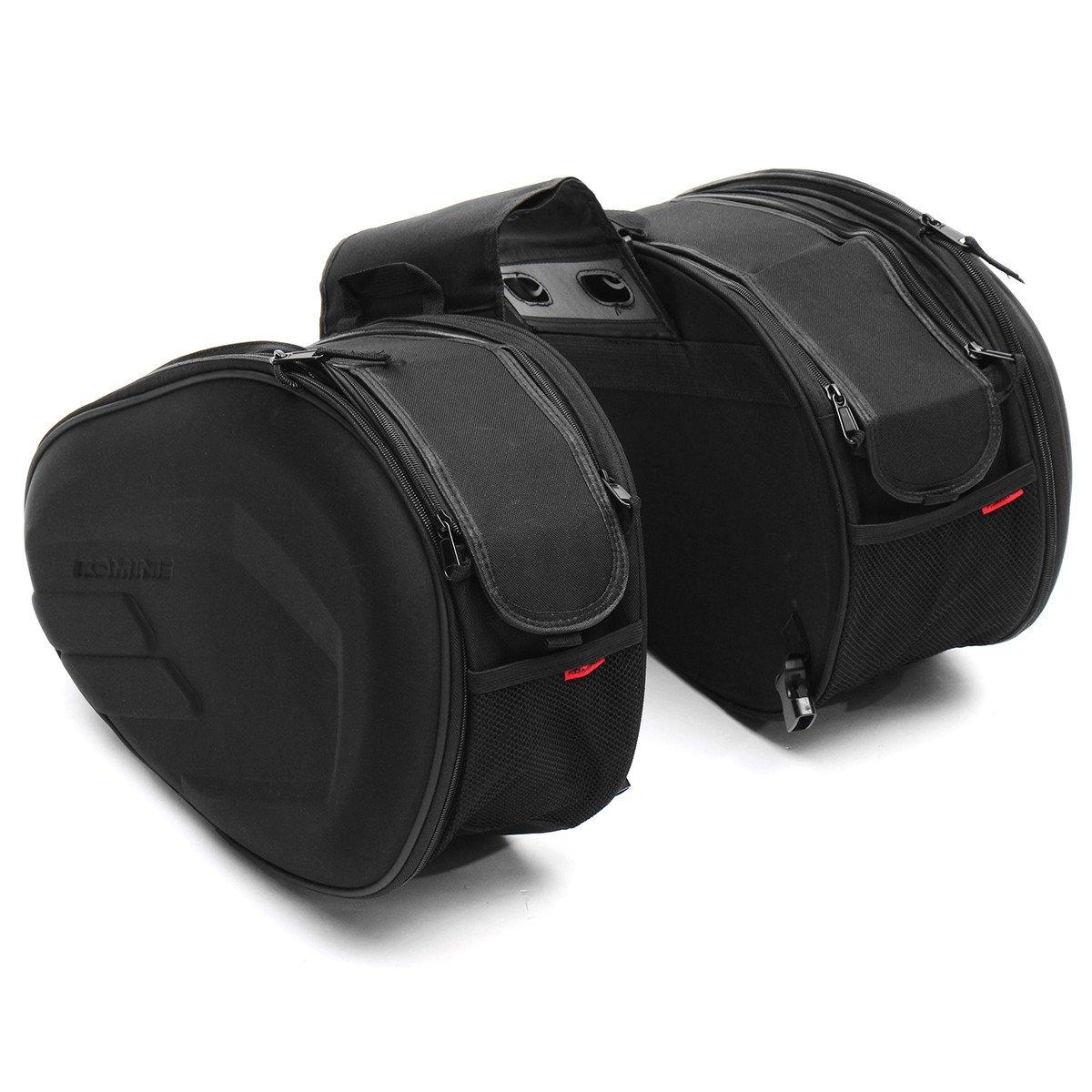 CoCocina 36L-58L Large Capacity Luggage Saddle Bag Motorcycle Rear Seat Multi-Use Expandable