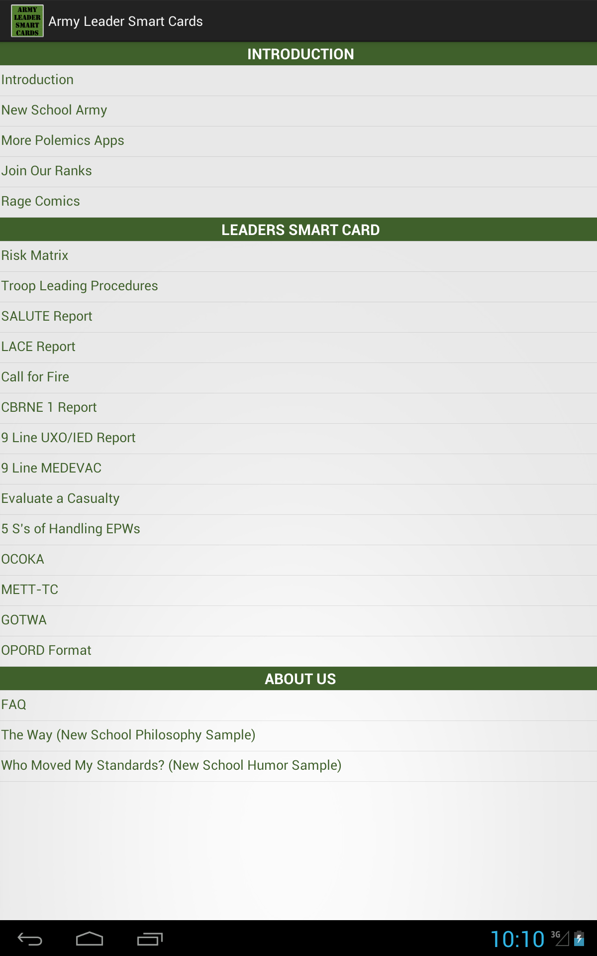 Amazoncom Army Leader Smart Cards Appstore For Android