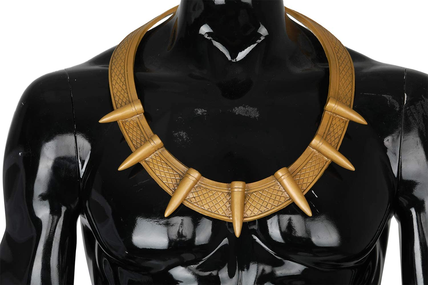 Erik Killmonger Necklace Black Panther Jewellery The Avengers Cosplay Costume Accessories Golden Latex