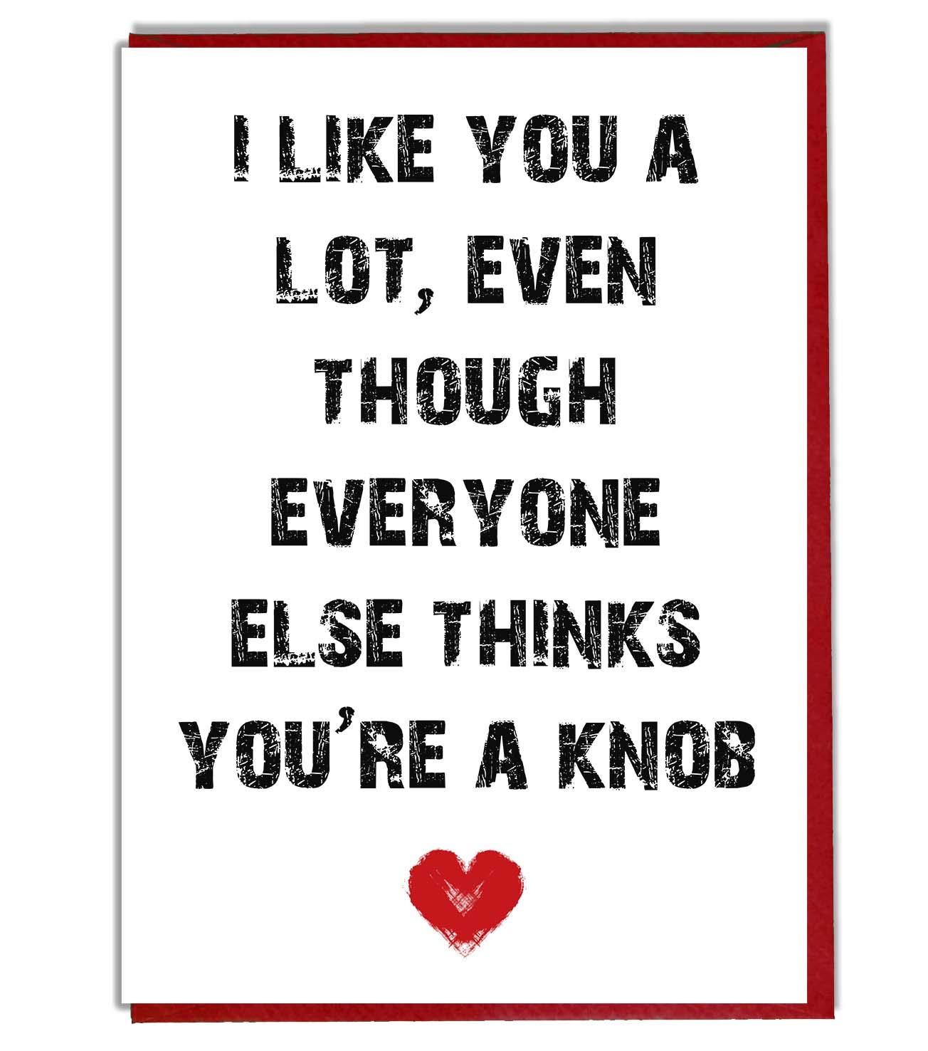 love girlfriend rude valentines card birthday funny anniversary boyfriend
