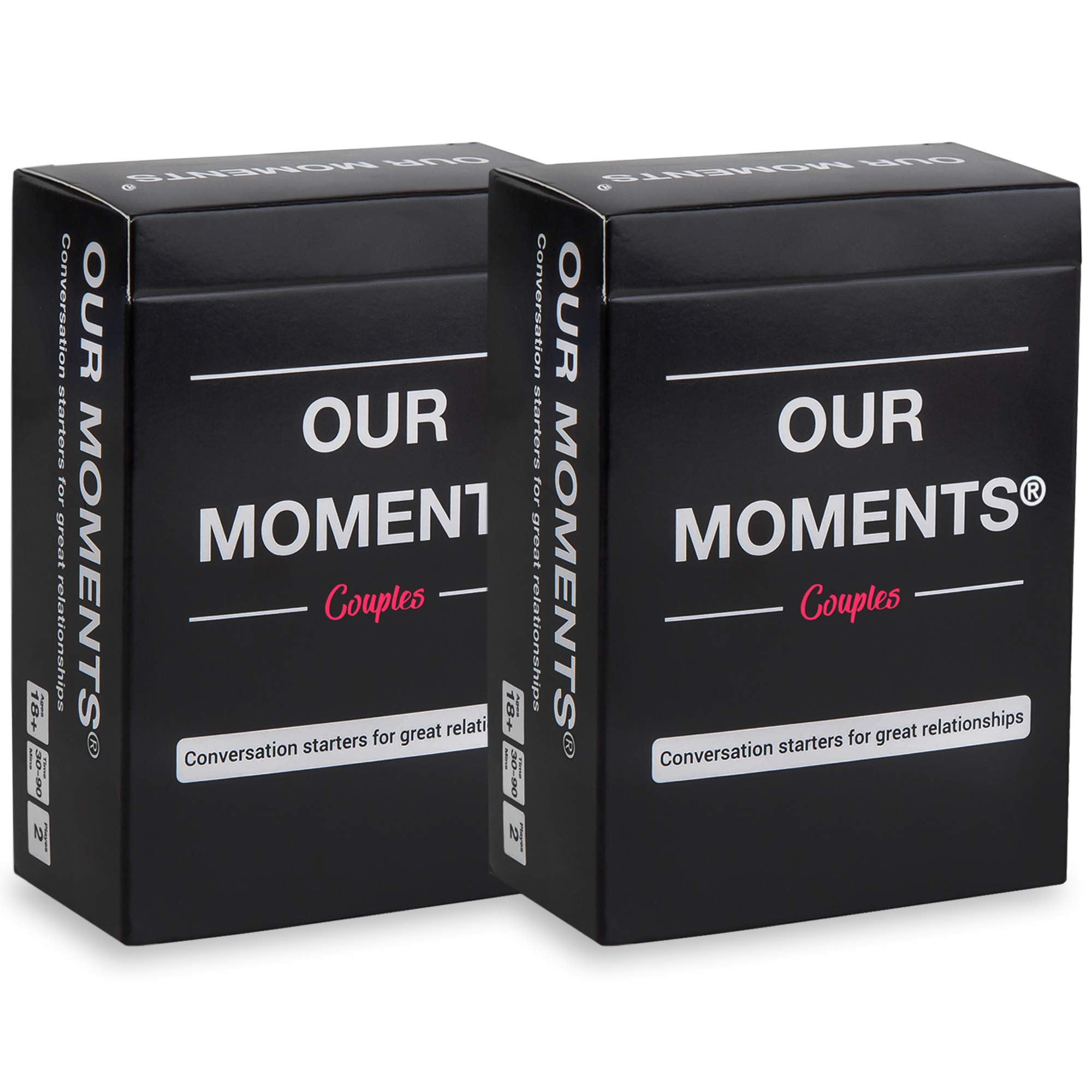 OUR MOMENTS Couples (Bundle of 2): 100 Thought Provoking Conversation Starters for Great Relationships - Fun Conversation Cards Game for Couples by OUR MOMENTS