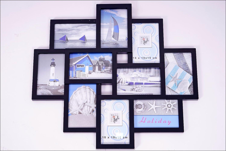 Amazon.de: Bilderrahmen schwarz - Multirahmen für 10 Bilder 10x15 cm ...