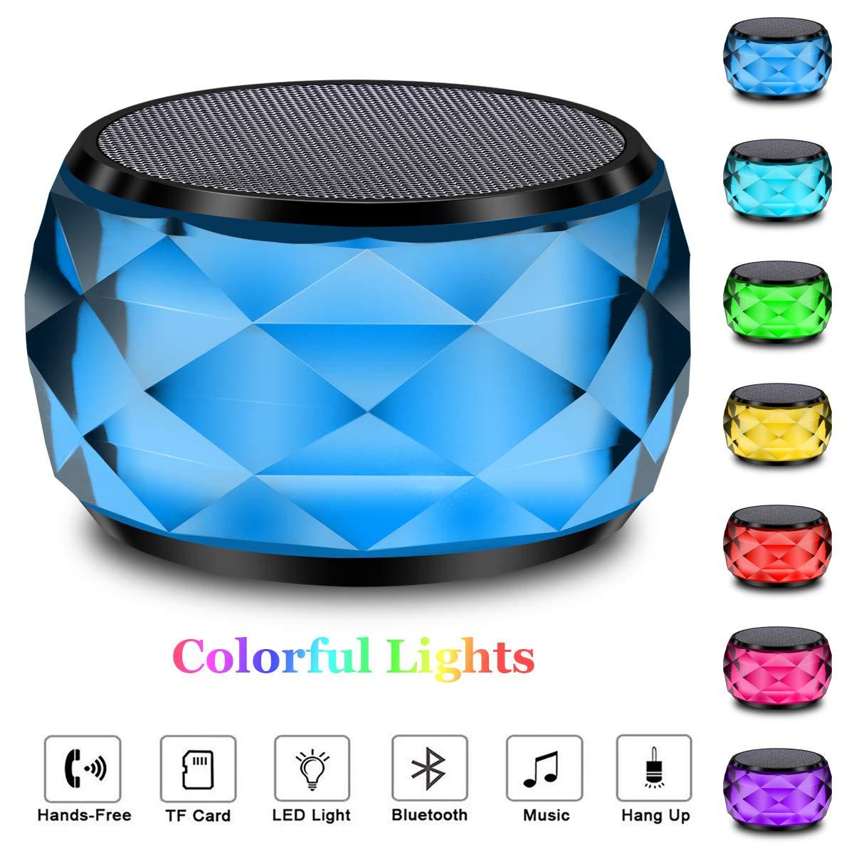inal/ámbrico port/átil Manos Libres PC//Micro SD//AUX-in//TWS tel/éfono Bluetooth con Forma de Diamante Cambio autom/ático LFS RGB dise/ño de LED Altavoz inal/ámbrico con Bluetooth y luz Nocturna