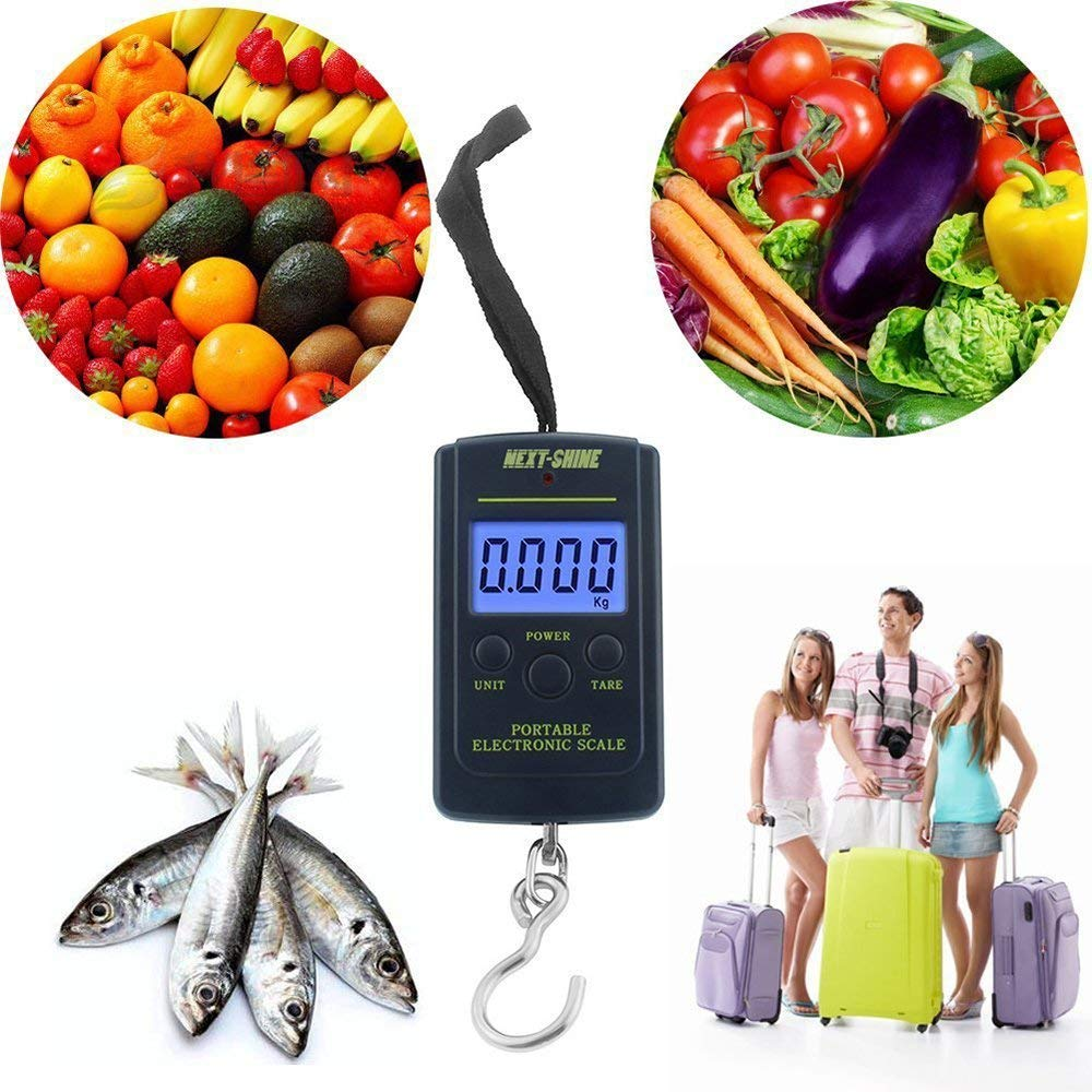 e165f94d1c86 ezyoutdoor 40kg x 10g Portable Mini Electronic Digital Scale Hanging ...