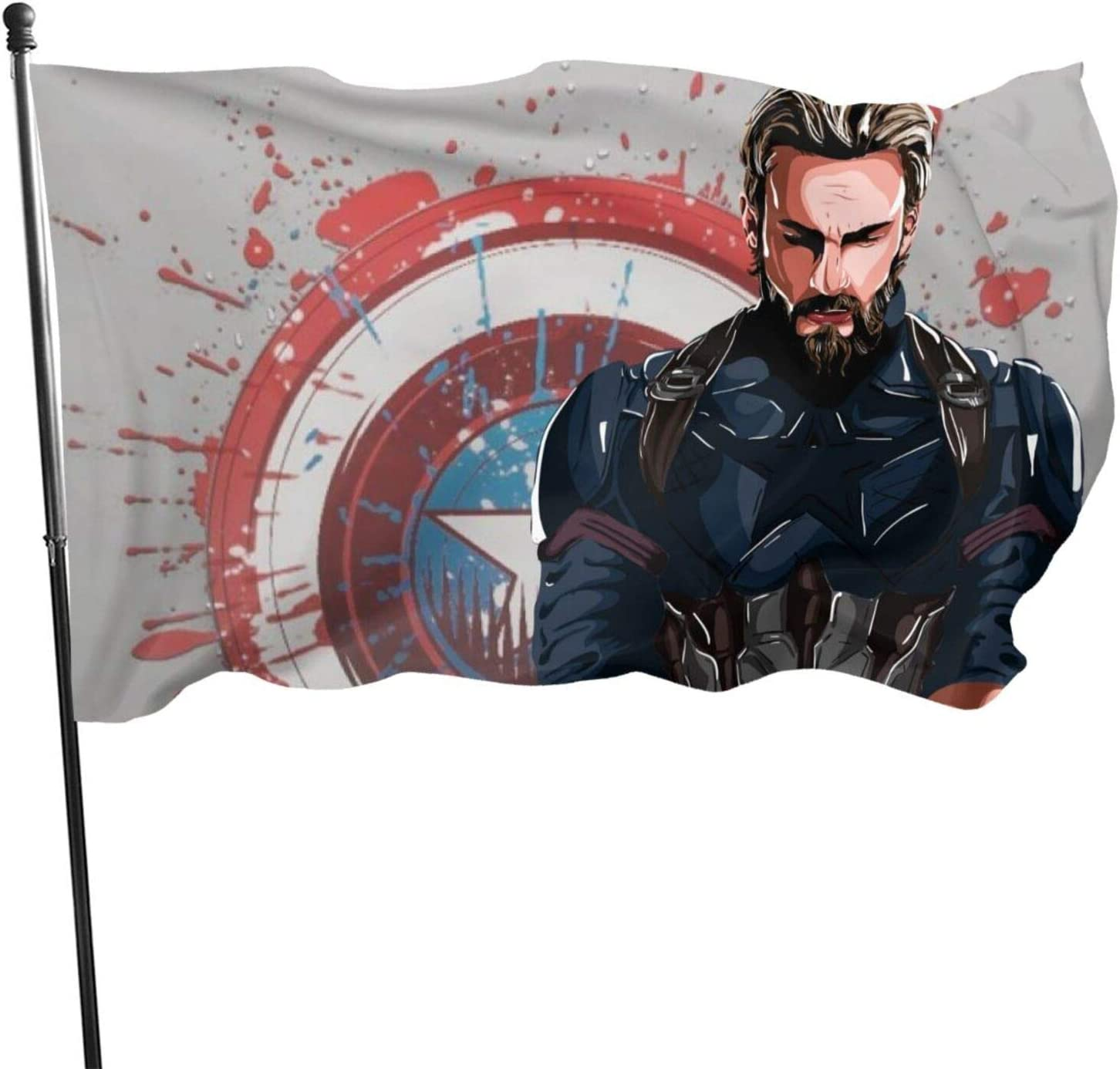 KRR Flag 3x5 ft Decorative Superhero Flags Make Charming Decorations for Any Backyard Or Lawn One Size