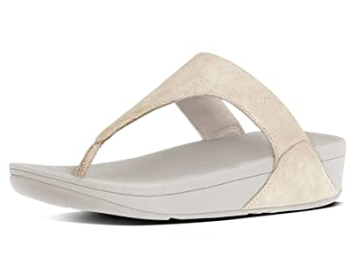 ba8cc7d4120a FitFlop Women s Shimmy Suede Toe-Post Sandals Pale Gold 10   Sunscreen