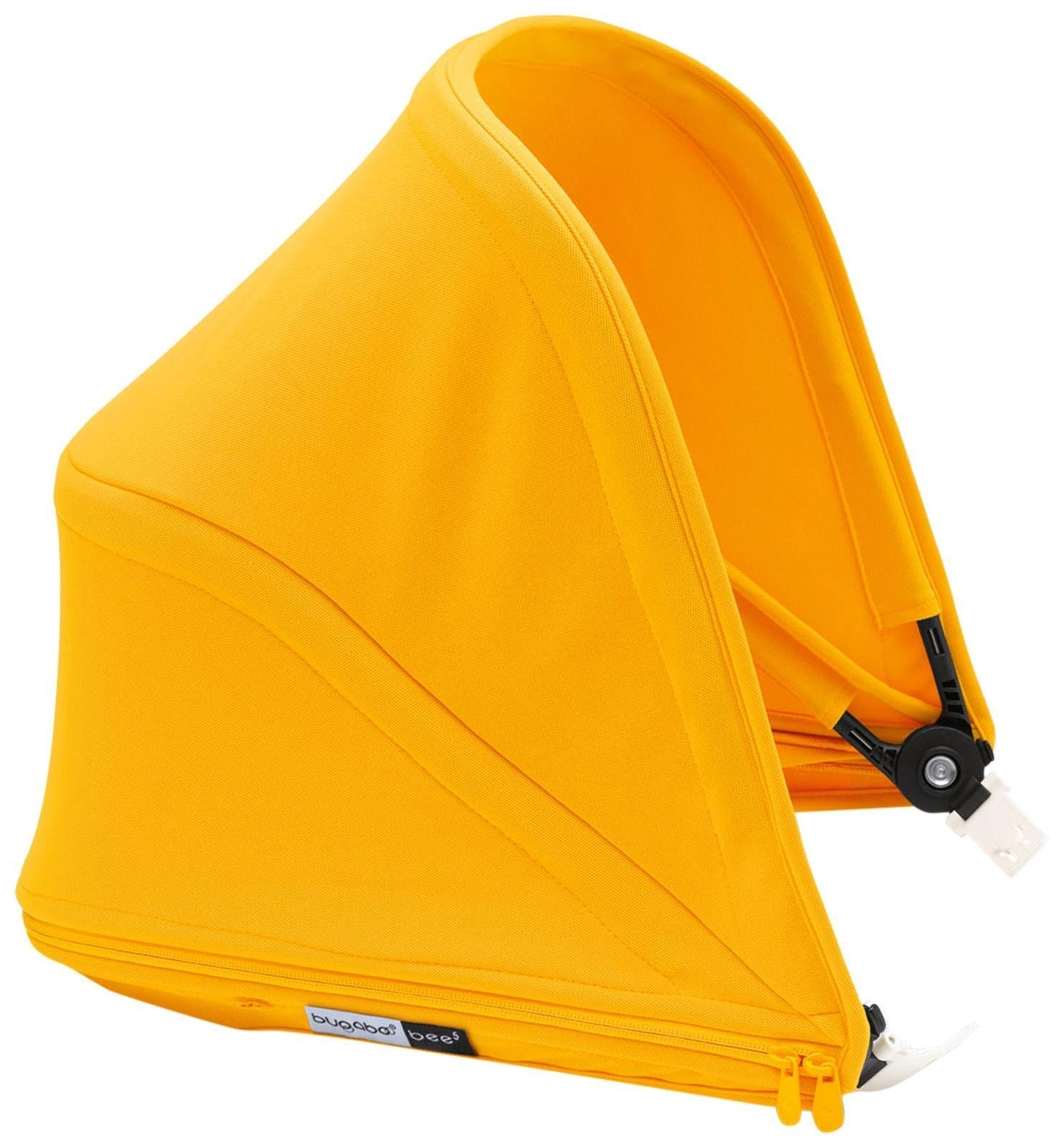 Bugaboo Bee5 Sun Canopy, Sunrise Yellow - Extendable Sun Shade for Full Weather Protection, Machine Washable