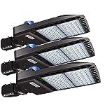 LEDMO 200W LED Parking Lot Lights Adjustable Slip Fit Mount with Dusk to Dawn Photocell Outdoor Commercial Area Lighting PI65