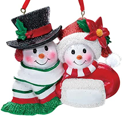 Miles Kimball Personalized Snowmen Couple Christmas Ornament - Amazon.com: Miles Kimball Personalized Snowmen Couple Christmas